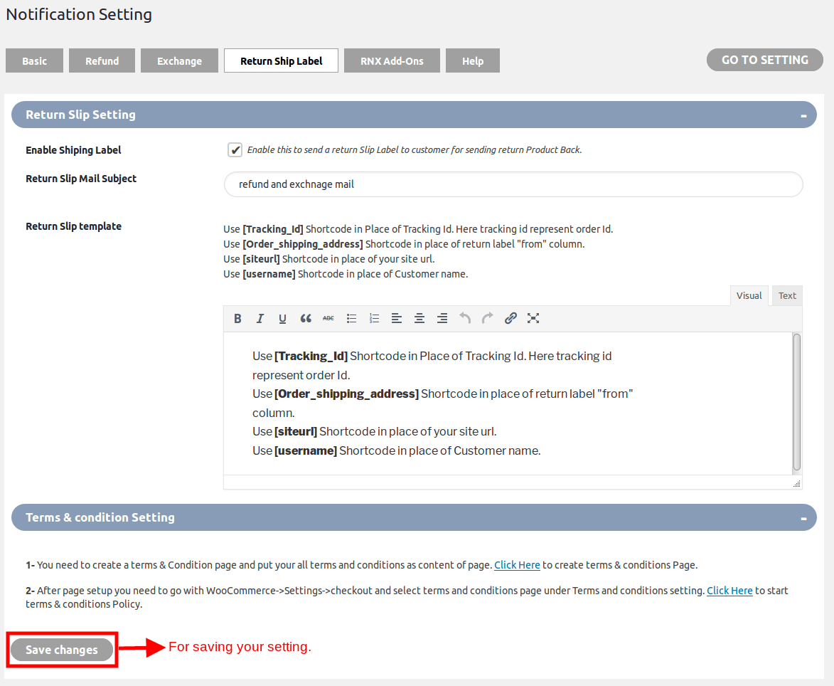 WooCommerce Refund And Exchange-ReturnShipEmailNotification
