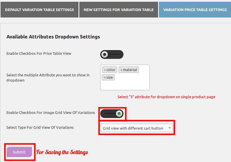 woocommerce-table-view-for-variations-variation-price-table-setting