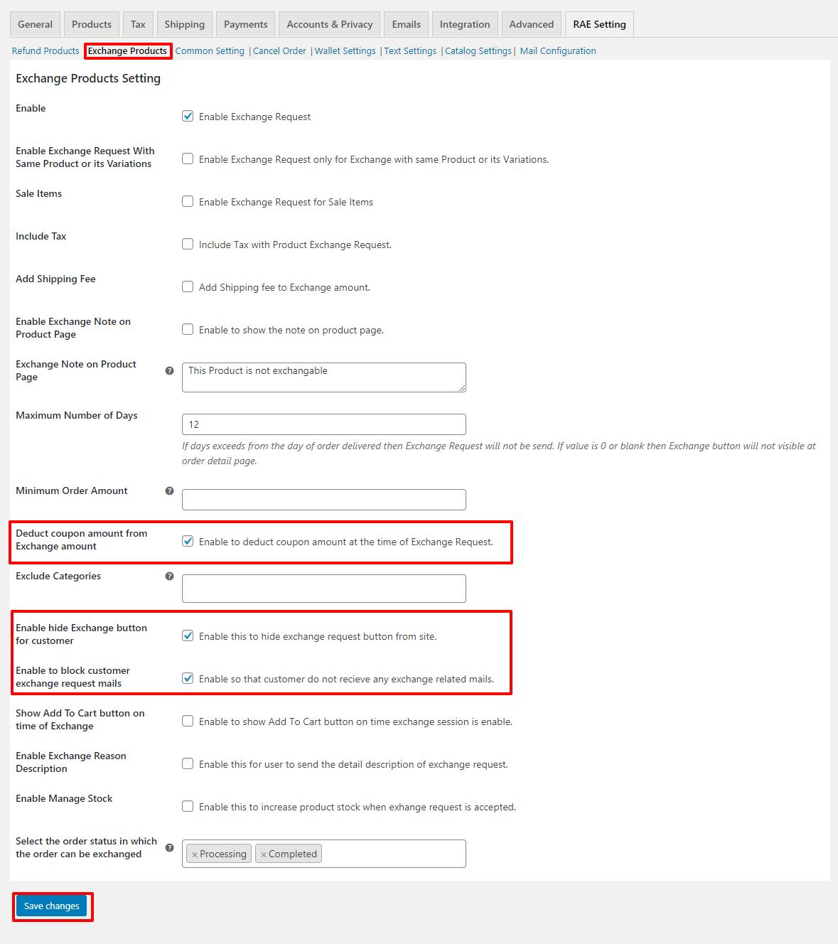 exchange-request-seeting
