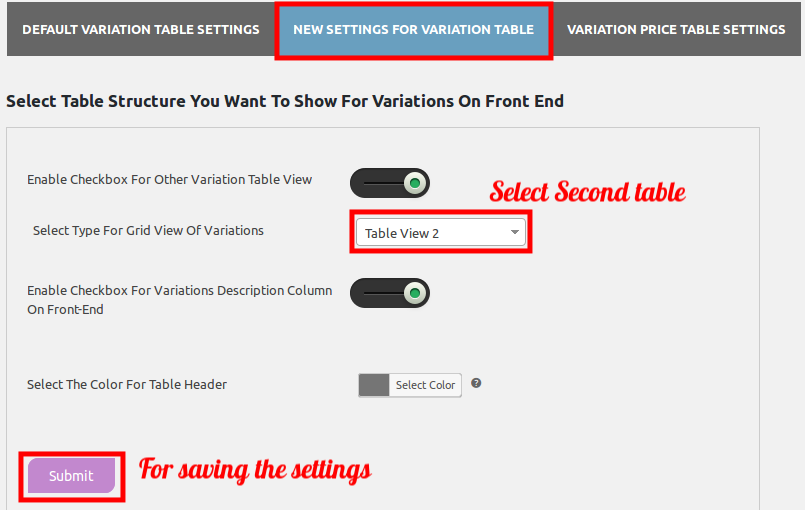 woocommerce-table-view-for-variations-select-table