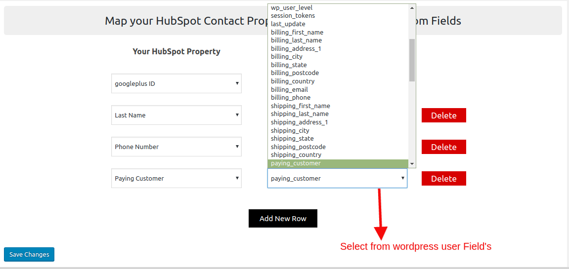 HubSpot Field to Field Sync-select-user-fields