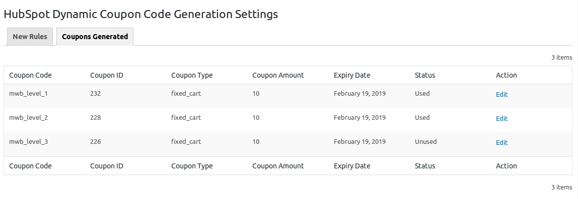HubSpot Dynamic Coupon Code Generation-coupons-generated