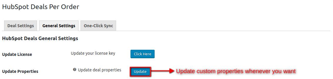 HubSpot Deal Per Order-general-setting