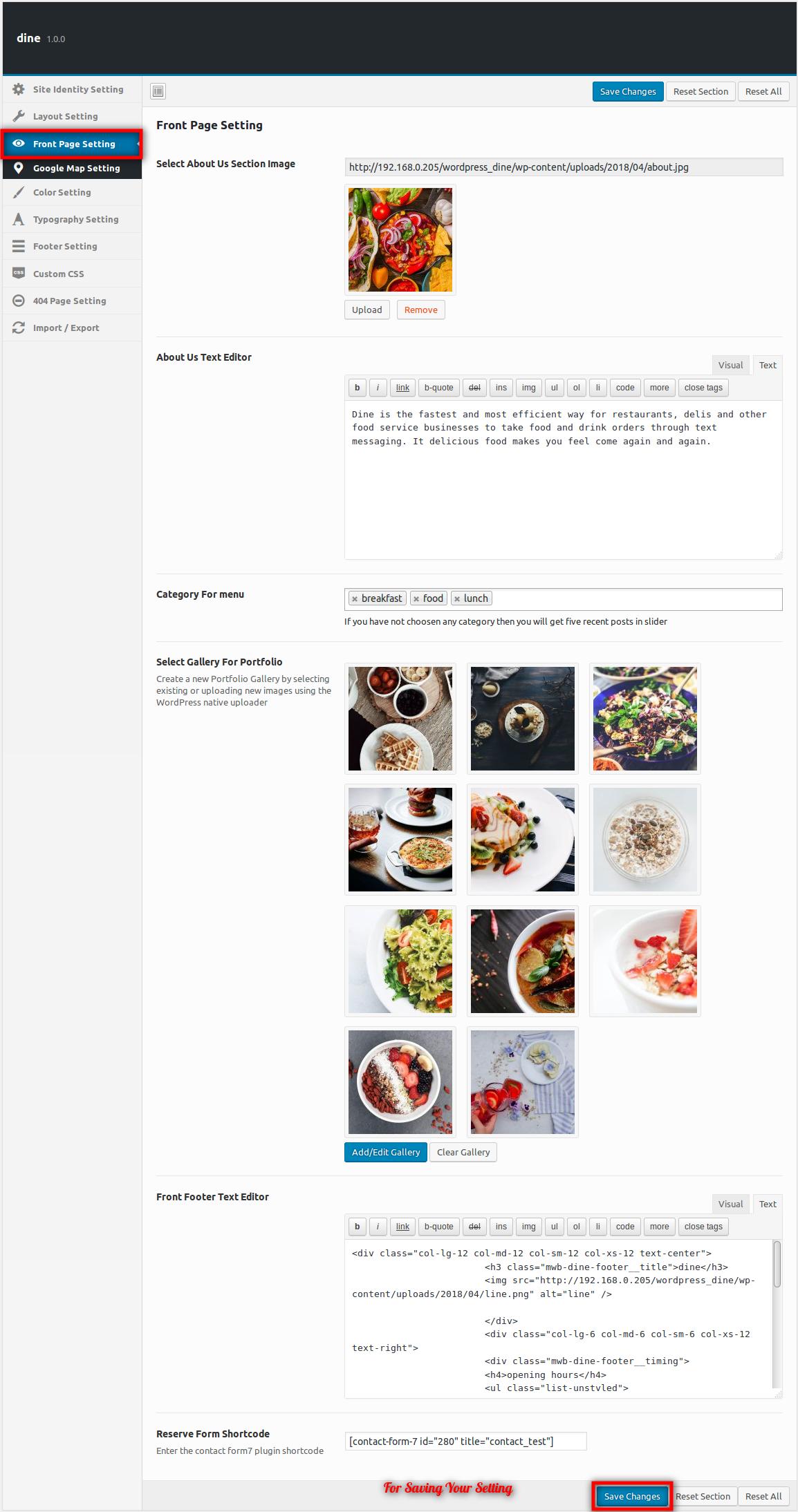 dine-wordpress-theme