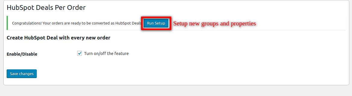 HubSpot Deal Per Order-setup new group and properties