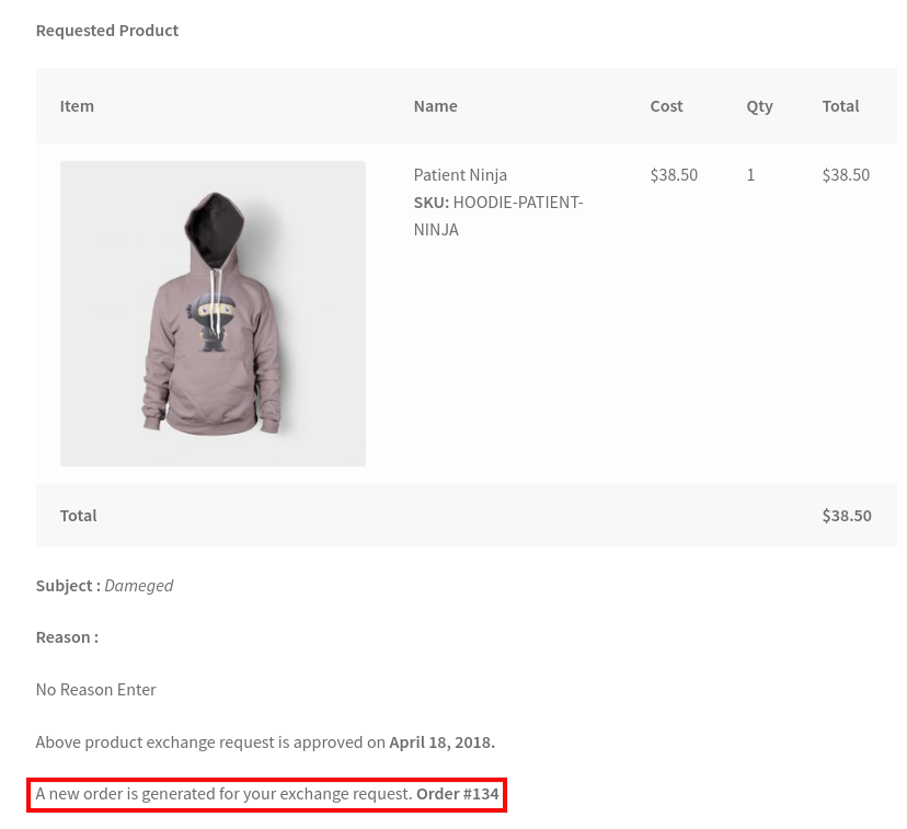 WooCommerce Refund & Exchange Dokan Addon - accept order