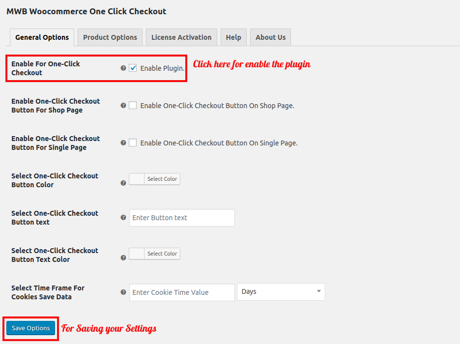 woocommerce-one-click-checkout-general-options