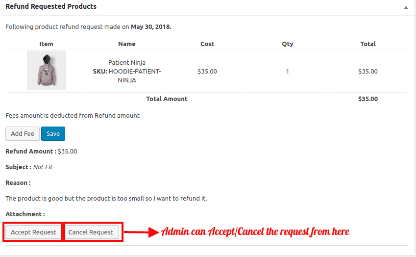 WooCommerce Refund And Exchange-Admin-Accept-Or-Reject-Request