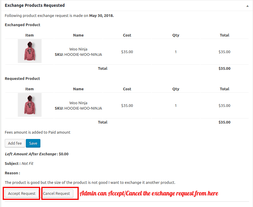 WooCommerce Refund And Exchange-Take-Action-on-Request