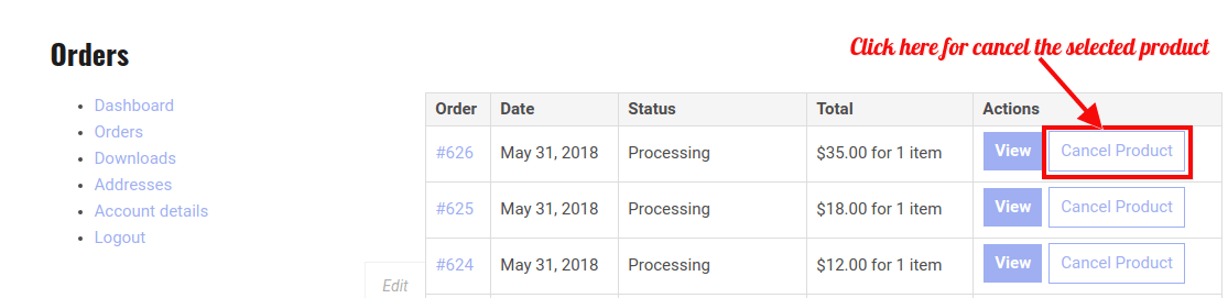 WooCommerce RMA Dokan -Cancel Product Request