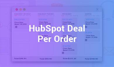 HubSpot Deal Per Order
