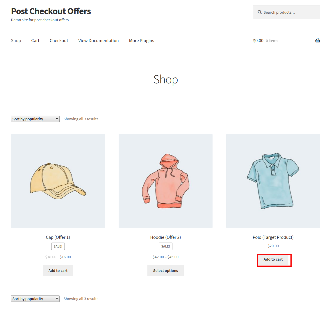 post-checkout-offers-shop-page