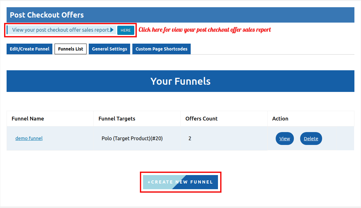post-checkout-offers-funnel-list