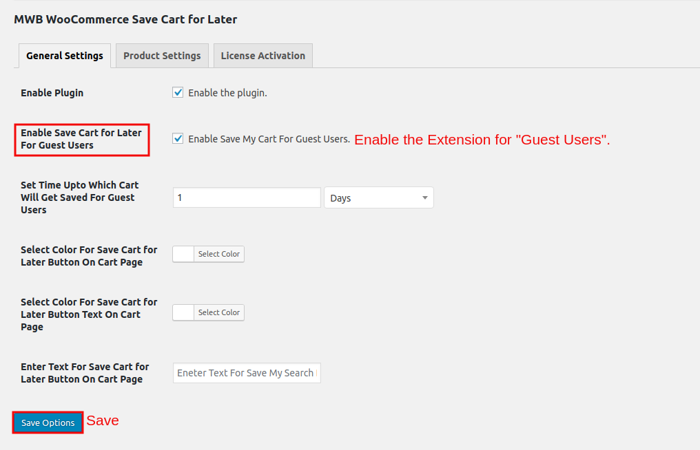 WooCommerce Save Cart for Later-EnableExtensionForGuestUsers.png