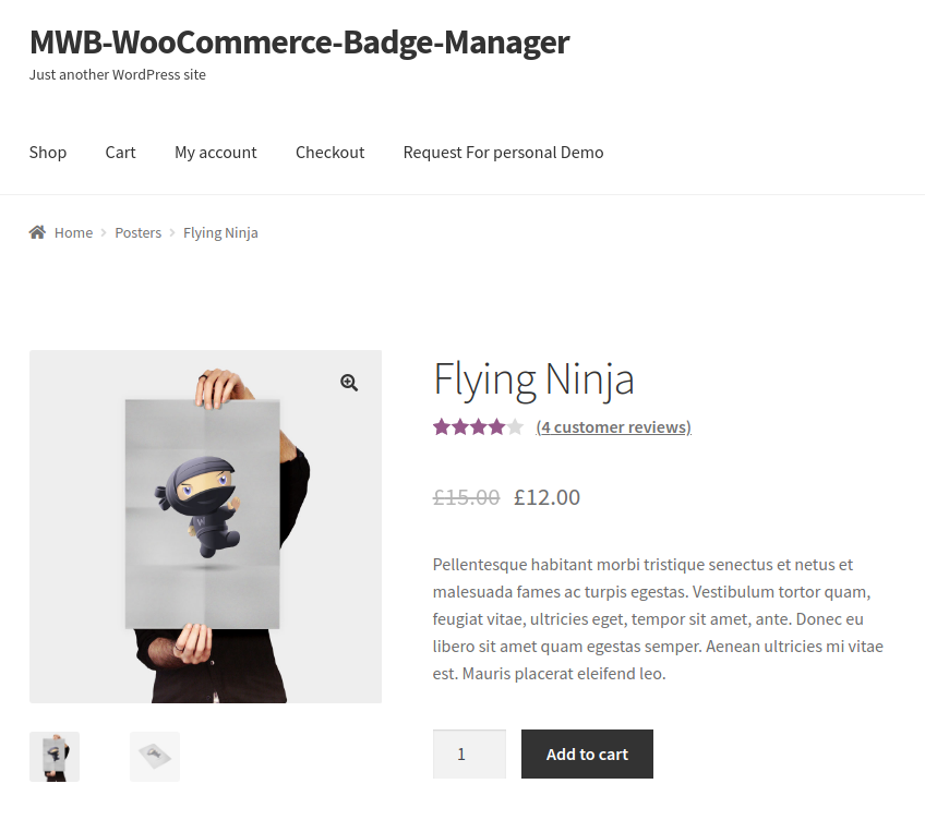 WooCommerce Product Badge Manager-for single page