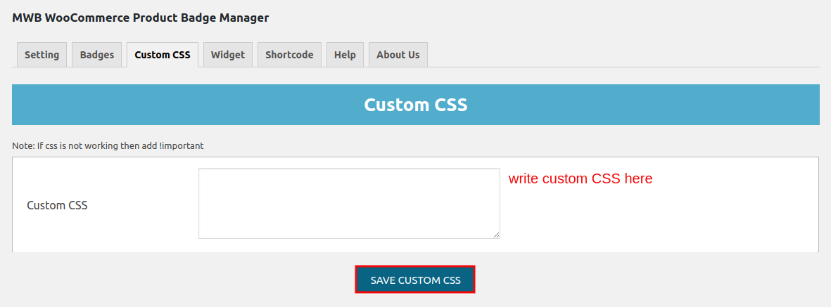 WooCommerce Product Badge Manager-custom CSS