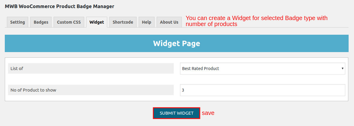 WooCommerce Product Badge Manager-widgets