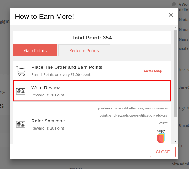 Points And Rewards-Write Review