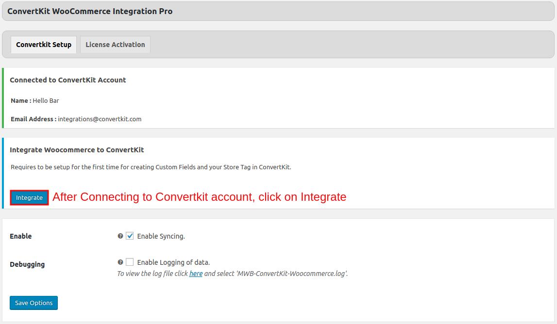 Convertkit-WooCommerce-Integration-Integrate