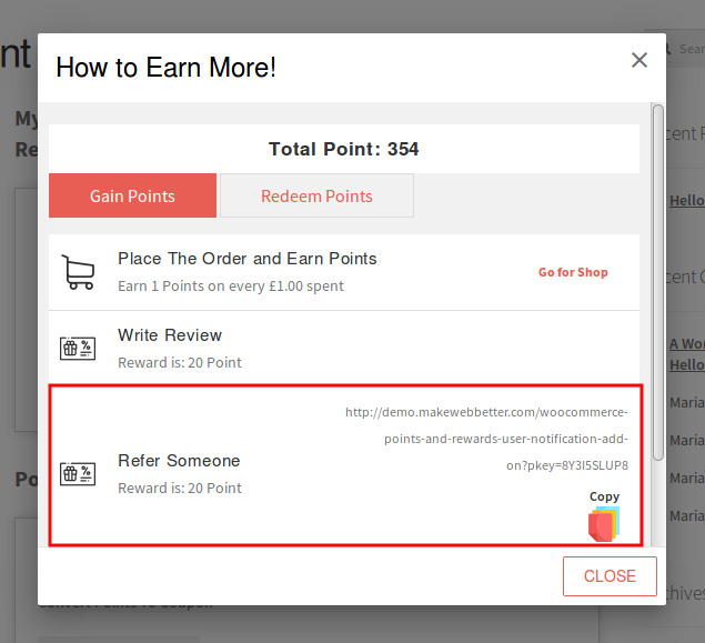 Points And Rewards-refer
