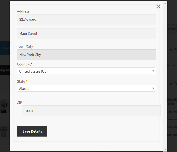 WooCommerce Multiple Shipping Addresses-Address from