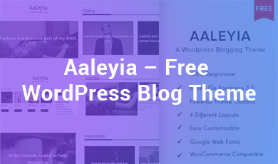 Aaleyia-Free-WordPress-Blog-Theme