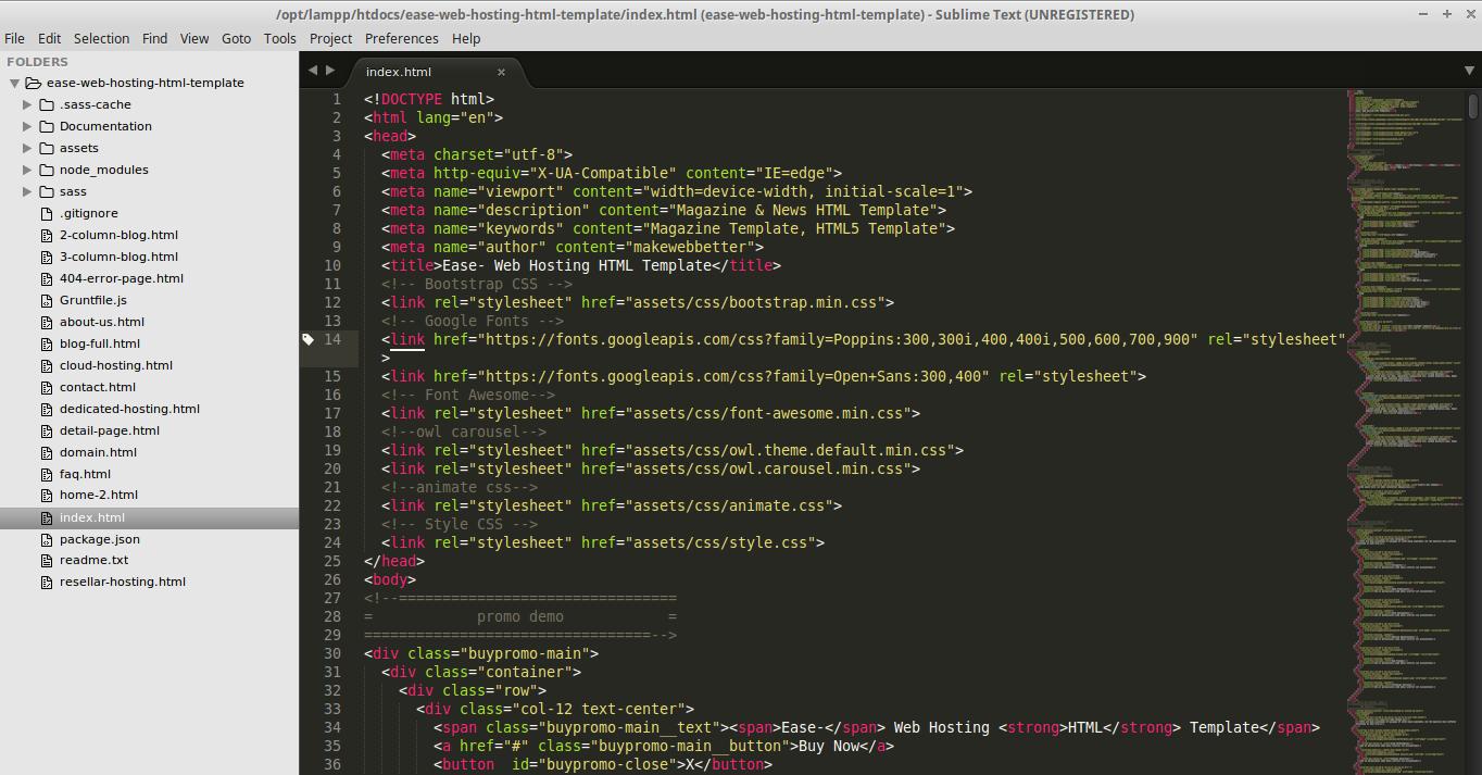 Ease Web Hosting HTML Template | MakeWebBetter Documentation