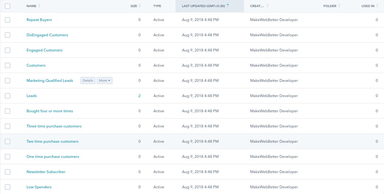 HubSpot WooCommerce Integration-smart-lists