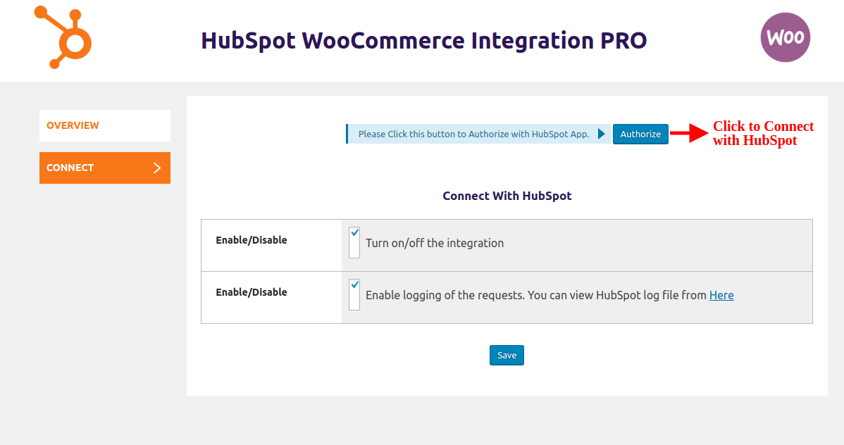 hubspot-woocommerce-integration-click-authorize