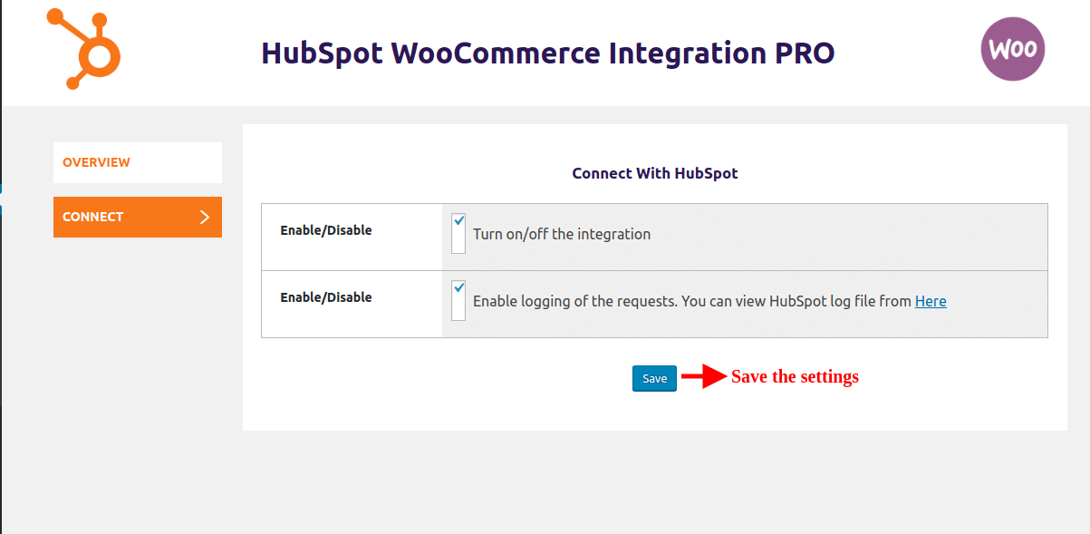 hubspot-woocommerce-integration-save-the-connect-settings