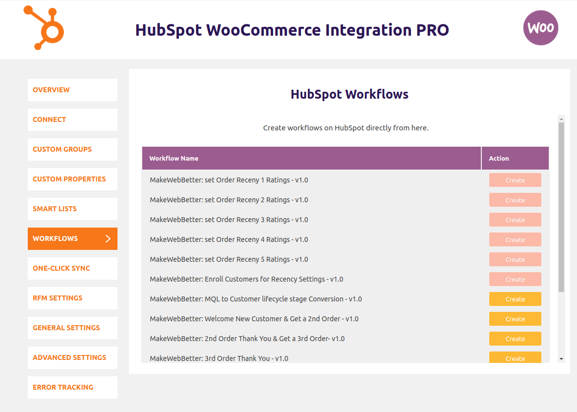HubSpot WooCommerce Integration-setting-up-workflows