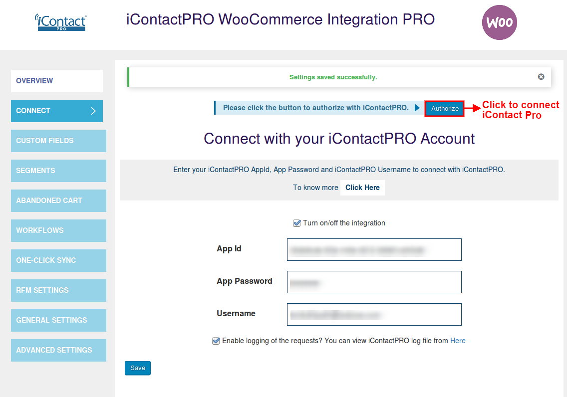 iContact-WooCommerce-Integration-Authorize