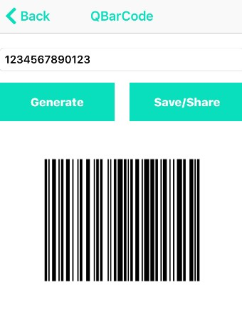iOS – QR/BAR CODE SCANNER AND BUILDER-save-or-share-bar-code