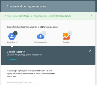 Android Social Login Package-google-sign-in
