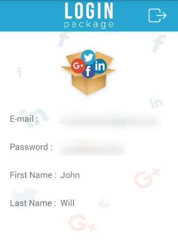Android Social Login Package-login package
