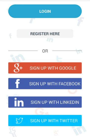 Android Social Login Package-login with