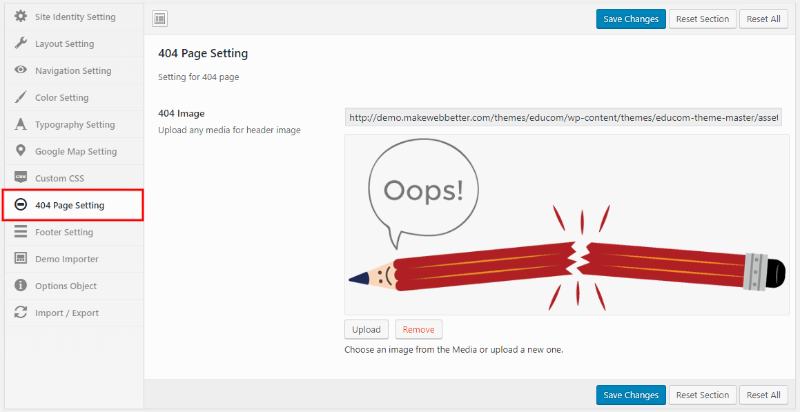 Educom-404-Page-setting