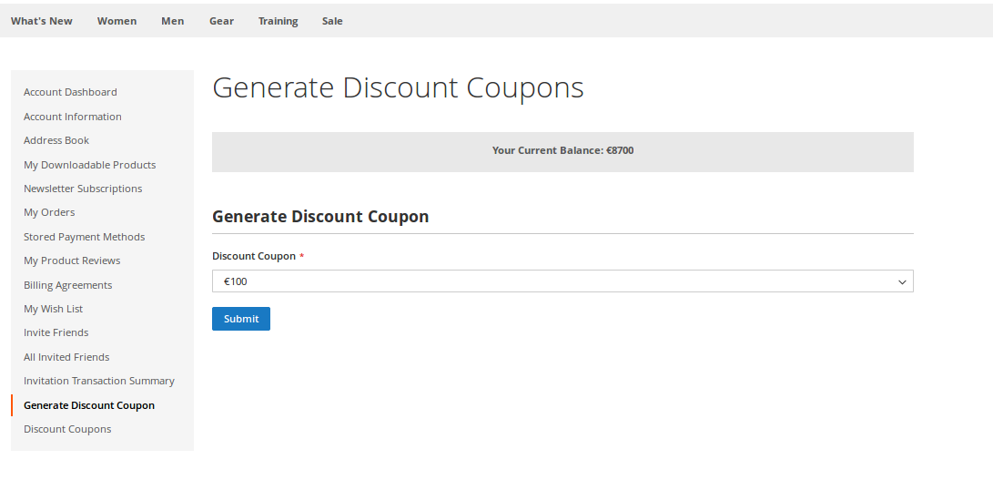 Generate Discount Coupons