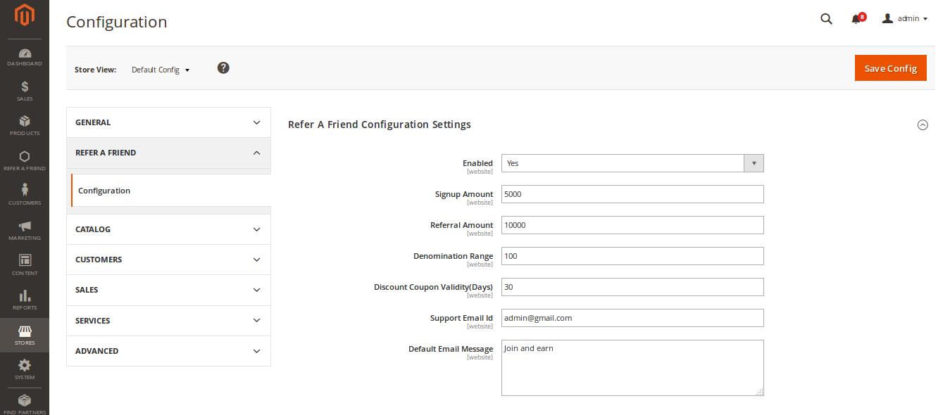 Magento2 Refer To Friend-refer-friend-configuration
