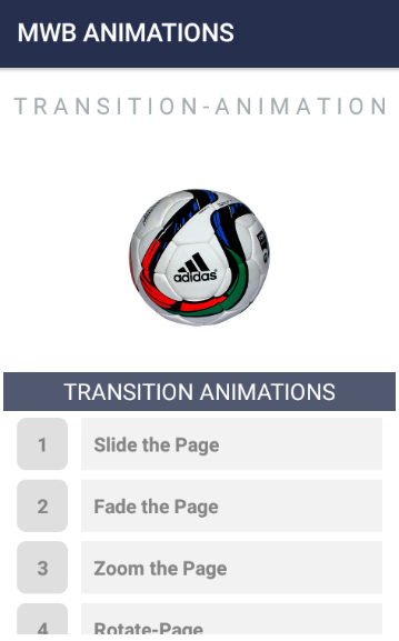 Android Animation Package-Transition