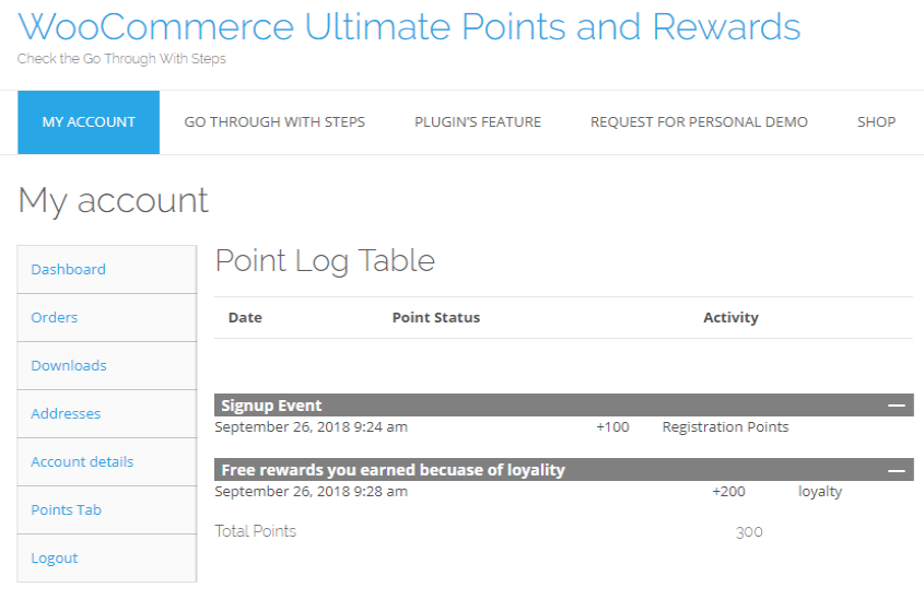 WooCommerce-Ultimate-Points-And-Rewards-PointsTable-front-end