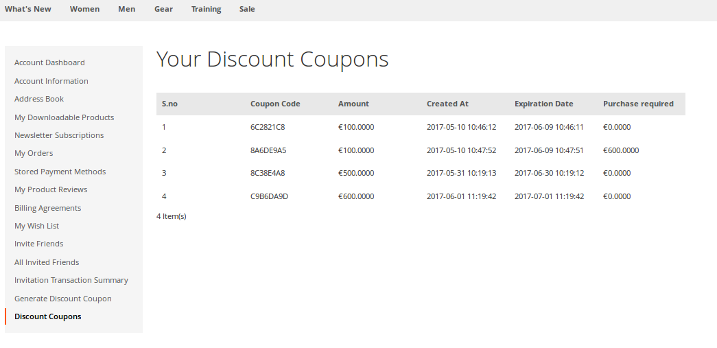 Your Discount Coupons