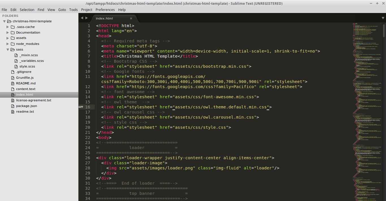 Christmas HTML Template-doc-html-image