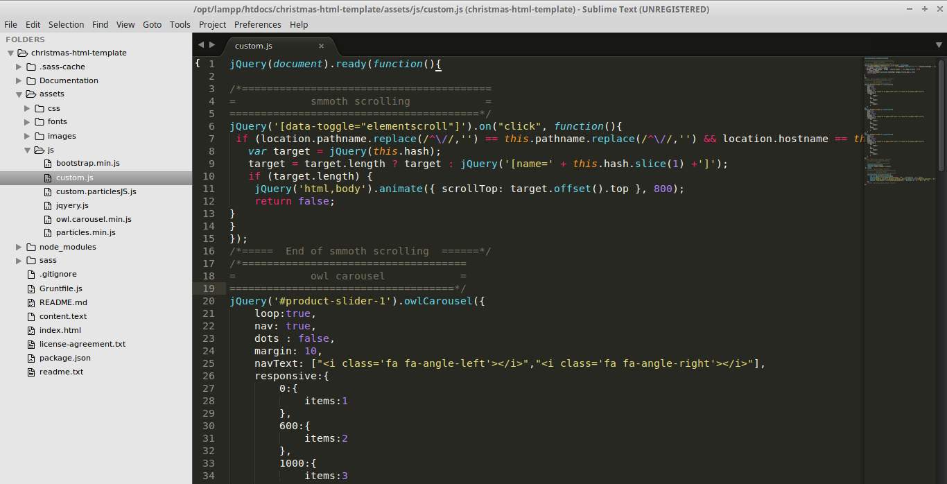 Christmas HTML Template-doc-js-image