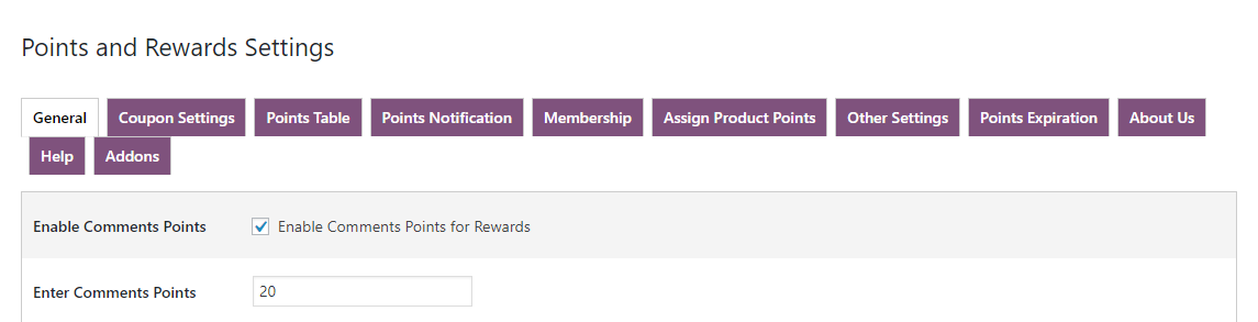 woocommerce points and rewards- comment-points