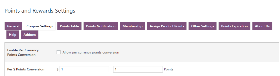 woocommerce points and rewards-currency-conversion