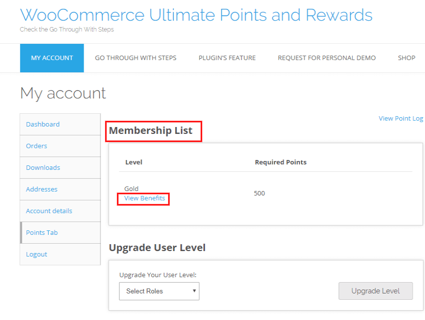 woocommerce points and rewards-enter-membership-list-fron-end