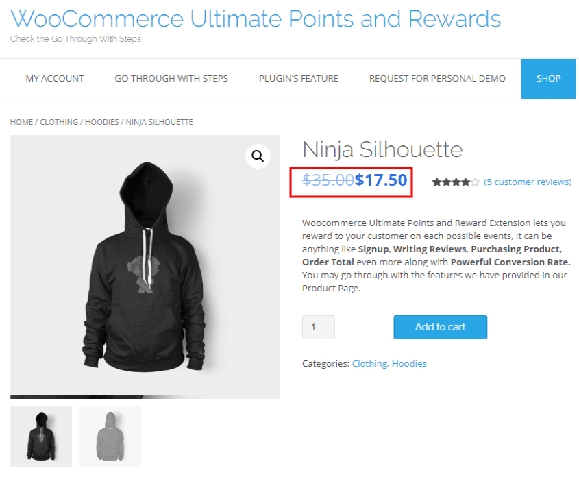 woocommerce points and rewards-enter-view-benefits-on-single-product