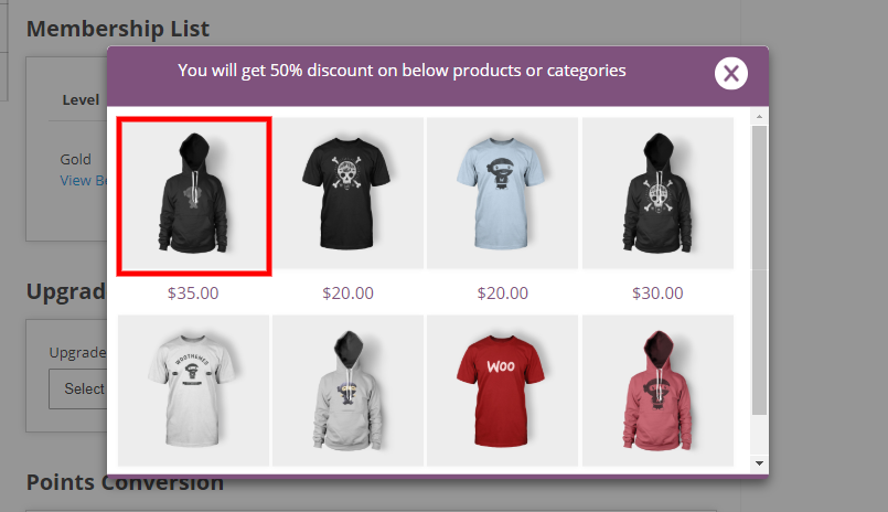 woocommerce points and rewards-enter-view-single-product-benefit