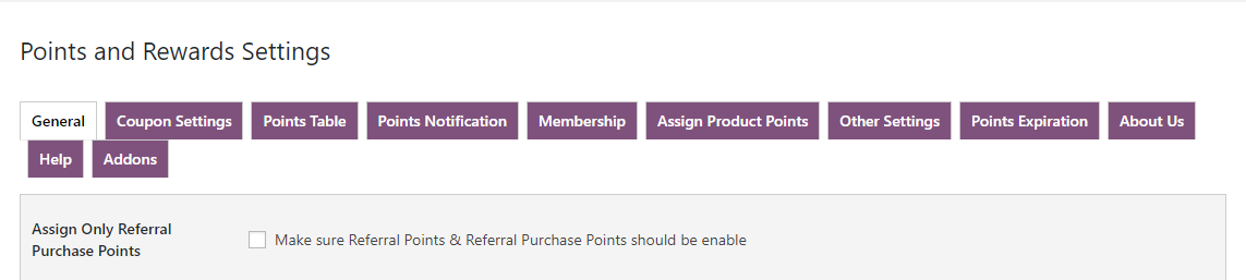 woocommerce points and rewards-only-referal-purchase-points